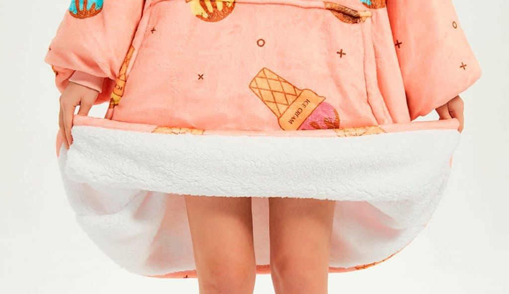 Hooded blanket ice cream